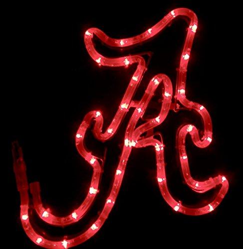 Alabama Football Tailgating Window Bar PUB Light LED Roll Tide BAMA Crimson (University Neon Lamp)