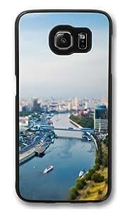 Cityscape river Custom Samsung Galaxy S6/Samsung S6 Case Cover Polycarbonate Black