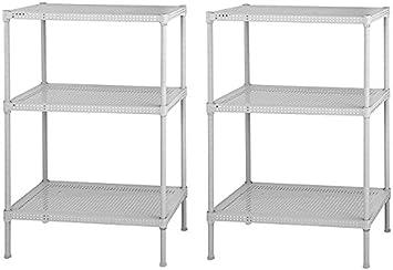Muscle Rack PWS241235-4W Steel Wire Shelving 35 Height x 24 Width x 12 Depth White 35 Height x 24 Width x 12 Depth Sandusky 4 Adjustable Shelves 110 lb Per Shelf Capacity