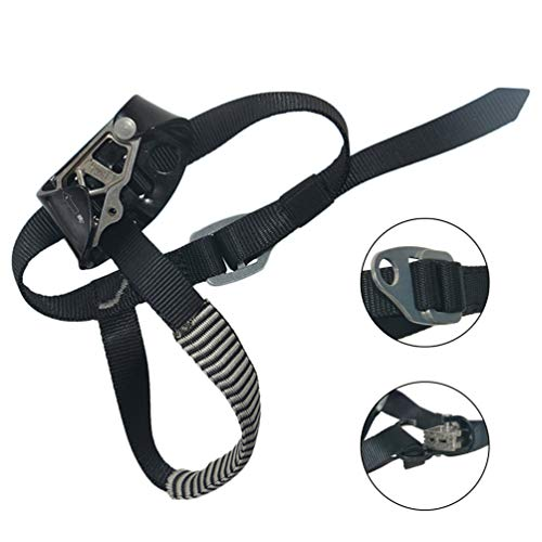 Foot Ascender Tightness Adjustable Mountaineering Equipment Climbing Rope Device with Foot Pad for Climbing Rope Device Engineering Protection. Fire Rescue - Left