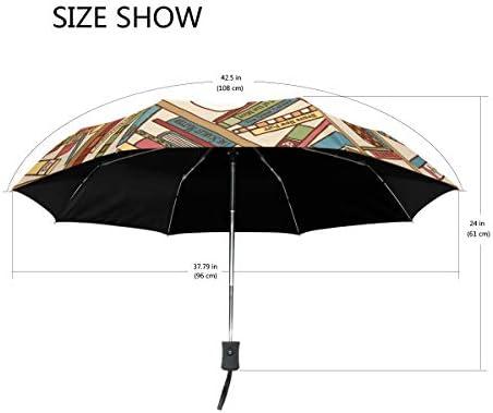 Akiraki 折りたたみ傘 レディース 軽量 ワンタッチ 自動開閉 メンズ 日傘 UVカット 遮光 ねこ おもしろ 図書 猫柄 かわいい 可愛い 折り畳み傘 晴雨兼用 断熱 耐強風 雨傘 傘 撥水加工 紫外線対策 収納ポーチ付き