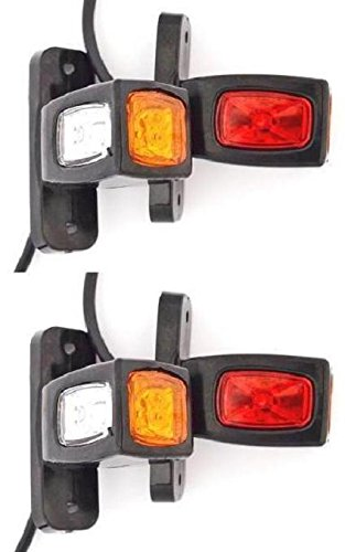 4 luci di ingombro posteriore per rimorchio colore arancione//bianco//rosso 12 V-24 V camper Van camion Caravan Chassis
