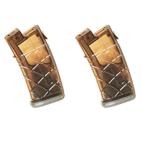 Airsoft Shooting Gear APS 2pcs 300rd Hi-Cap Magazine for APS JG Classic Army Tokyo Marui AUG AEG Brown/FG