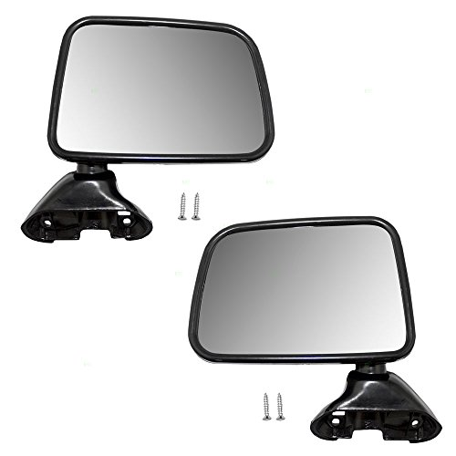 Driver and Passenger Manual Side View Mirrors Door Skin Mounted Replacement for Toyota Pickup Truck with Vent Window 8794089141 8791089143 (Mirror Door Manual Drivers Mounted)