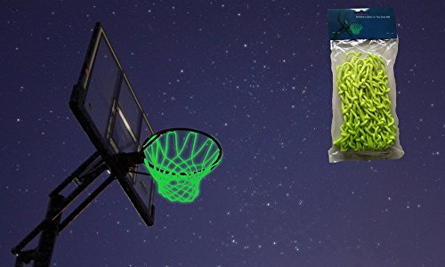 MCNICK & COMPANY Glow in The Dark Outdoor Basketball Net Rim Hoop Heavy -