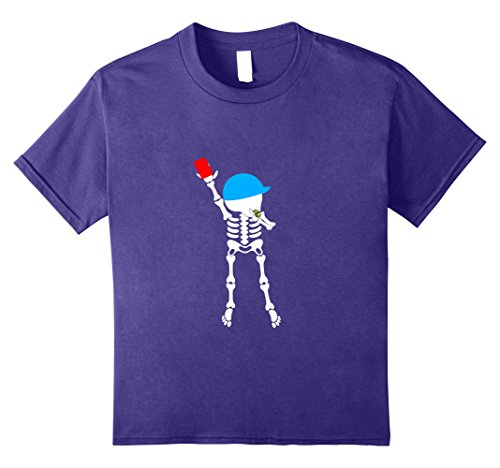Baby Referee Halloween Costume (Kids soccer skeleton halloween shirt referees 8 Purple)