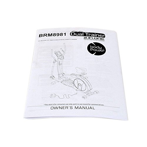 Body Flex Sports 8981-OM Elliptical Owner's Manual Genuine Original Equipment Manufacturer (OEM) Part for Body Flex Sports by Body Flex Sports