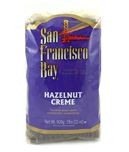 San Francisco Bay Coffee Whole Bean, Hazelnut Cream, 32 Ounce