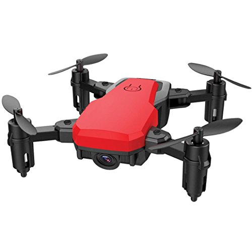 Yezijin Unmanned aerial vehicle, SG800 Mini Foldable 2.4Ghz RC Quadcopter Pocket Helicopter Drone Altitude Hold (Red) by Yezijin