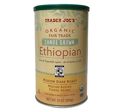 Trader Joe's Organic ETHIOPIAN Whole Bean Coffee 100% Arabica USDA Organic / Fair Trade / Kosher Pareve Certified 13oz (Organic Ethiopian) (Trader Coffee Joe's Christmas)