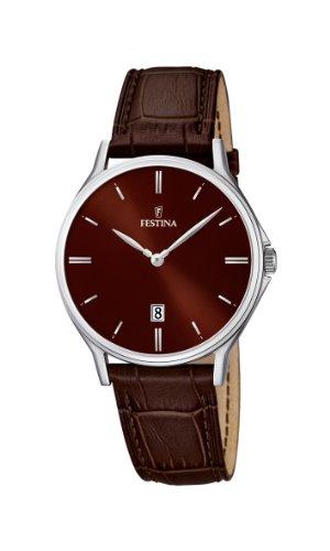 Festina Herren-Armbanduhr CORREA CLASICO Analog Quarz Leder F16745-4