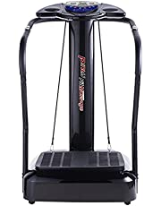 Pinty 1.5HP 2000W Whole Body Vibration Platform Fitness Machine Fit Massager (Extra Large-180 Level of Speeds) (XL Enlarged Platform, Black 180-Level 2000W)