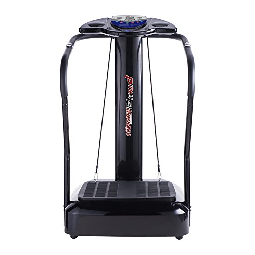 Pinty 2000W Whole Body Vibration Platform Exercise Machine with MP3 Player (180 Speed Levels) (Best Cardio Machine To Burn Fat)