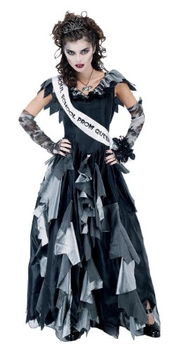 [Paper Magic Men's Zombie Prom Queen-1 Costume, Black/Gray, One Size] (Zombie Queen Costumes)