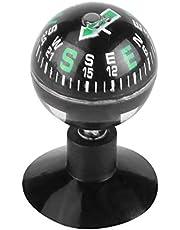 Portable Compass, Car Boat Truck Mini Black Flexible Navigation Plastic shell Ball Compass Dashboard Suction Pocket Hiking Direction Guide Ball