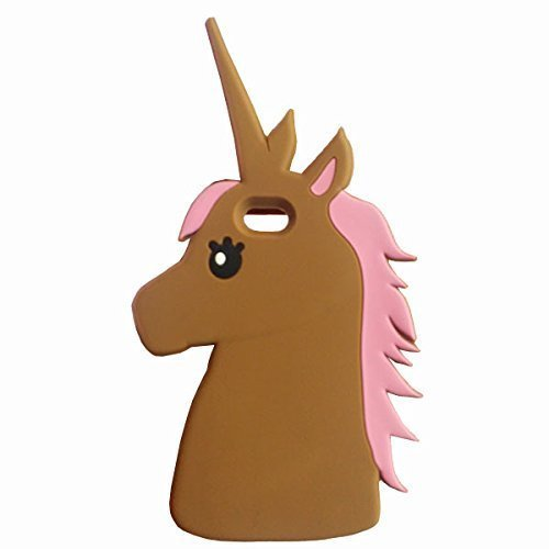iphone 6 Plus Case iphone 6S Plus Unicorn Silicone Case,MODEFAN Cute Cartoon Unicorn Figure Soft Silicone Gel Rubber Case Cover Skin for Apple Iphone 6 Plus /6S Plus 5.5 Inch ( Brown Unicorn (Cartoon Figure)