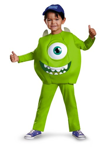 Disney Pixar Monsters University Mike Toddler Deluxe Costume, (Monsters Inc Boo Costume For Baby)