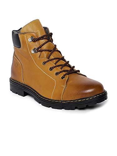 Buy LEO CLAWS Men Camel Brown Solid