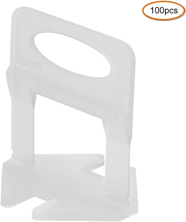 Clip per base di livellamento per piastrelle da 100 pezzi spessore piastrella applicabile 3-15 mm per livellare e lasciare cuciture livellatore per piastrelle in plastica da 0,5 mm