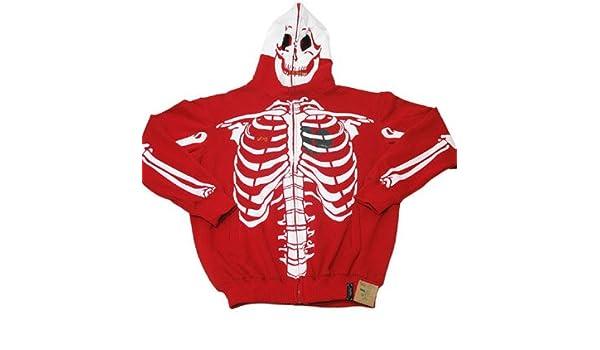 Lrg Dead Serious Skeleton Hoodie Red Amazon Ca Clothing