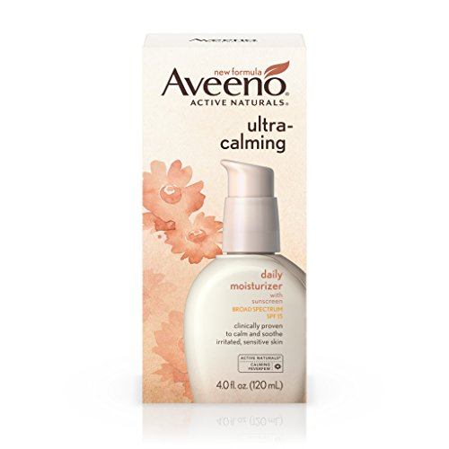 Face Calming (Aveeno Ultra-Calming Daily Moisturizer For Sensitive Skin With Broad Spectrum Spf 15, 4 fl. oz.)
