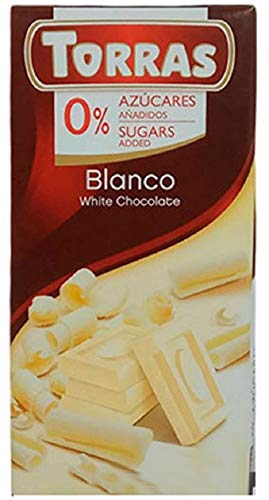 Torras No Added Sugar White Chocolate Bar Pack Of 6