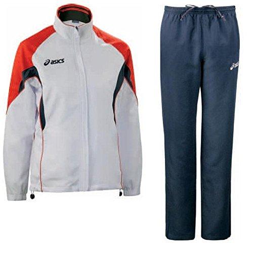 Mujeres abrigo microfibra: chaqueta + pantalones ASICS AURORA blanco rojo T654Z5 Talla:mediano