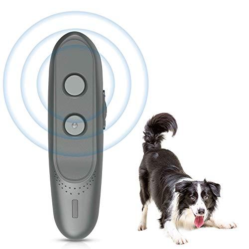 Merkisa Bark Control Device – Anti Barking Device, 2-in-1 Dog Training Tool, 16.4 Ft Large Control Range, Safe to Use…