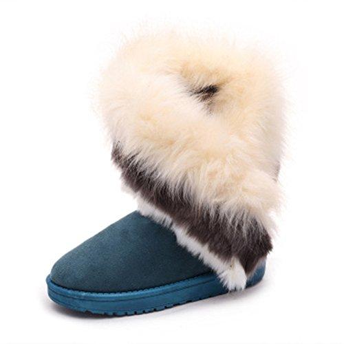 Verde mujeres botas termal antideslizante botas impermeable Invierno JDS madre terciopelo peludo algodón la zapatos Señoras de para Fortuning's nieve de las nISvpRwxa