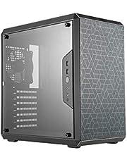 Cooler MCB-Q500L-KANN-S00 Master MasterBox Q500L Compact ATX Qube Gaming Case with Adjustable IO Panel, Black,Q500L