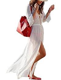 Womens Bikini Cover UPS Beach Coverup Swimsuits Sunscreen Long Top