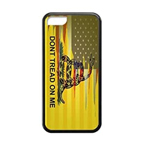 """Don't Tread On Me"" Cell Phone Protector for iPhone 5C Plastic and TPU (Laser Technology) wangjiang maoyi"