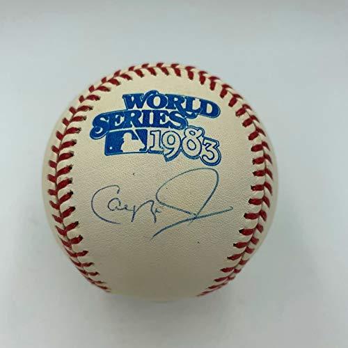 - Cal Ripken Jr. Signed Official 1983 World Series Baseball MLB Authenticated Holo