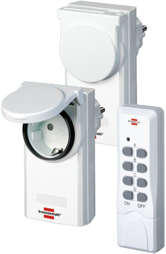 Brennenstuhl Funkschalt-Set RCS 1044 N Comfort IP44 weiß, 1507590