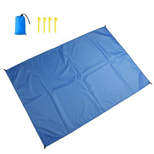 SEVEN HITECH Outdoor Foot Beach Blanket Pocket Packable Waterproof 55″x60″ Sand Proof 150-1