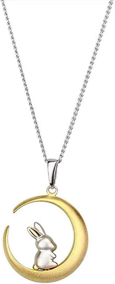 Men Women/'s Fashion Silver crescent Moon Charm Pendant Necklace Chain Gift