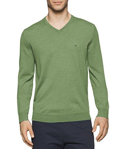 Calvin Klein - Chamarra sin botón, Hombres, Color fantasía (Italian Lime Mouline)