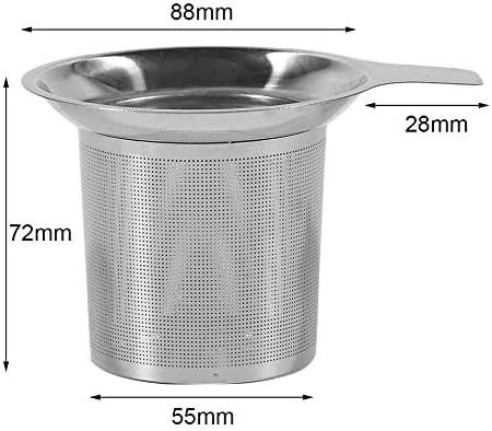 JIUY Pr/áctico Filtro colador de t/é de Acero Inoxidable de Infuser del t/é del tamiz del Filtro Vaso de t/é Botellas Accesorios de Cocina Uso Plata