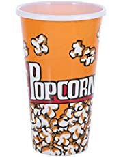 Liying Plastic Small Popcorn Cup, Orange