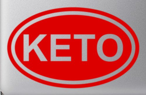 "Price comparison product image Keto Diet Encouragement Euro Oval - 5"" Red Vinyl Decal Sticker Car Macbook Laptop"