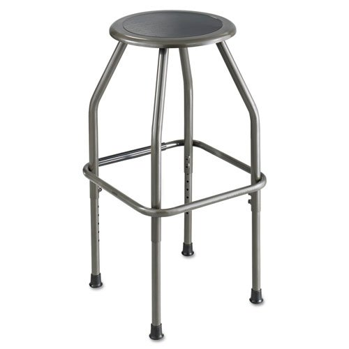 Safco - Diesel Series Industrial Stool, Stationary Padded Seat, Steel Frame, Pewter 6666 (DMi EA by Safco Diesel Series Industrial Seating