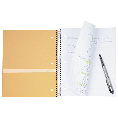 "043100060444 - Five Star Spiral Notebook, 1 Subject, College Ruled Paper, 100 Sheets, 11"" x 8-1/2"", Color Will Vary (06044) carousel main 3"