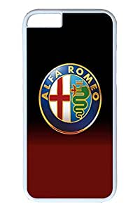 iPhone 6 Case - Protective Armor Hard Back Case for iPhone 6 Alfa Romeo Car Logo 1 Exact Fit High Quality White Hard Cases for iPhone 6 4.7 Inches