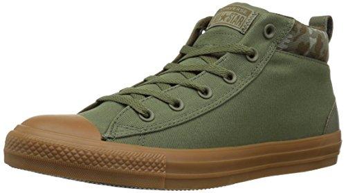 Converse Chuck Taylor All Star Street Mid Sneaker, Field Surplus/Surplus Olive, 8.5 M (Leather Field Sneakers)