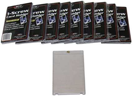 BCW 1-Screw Trading Card Holder Thicker 20pt Recessed Screwdown New 15 pk