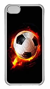iPhone 5C Case, Personalized Custom Fireball for iPhone 5C PC Clear Case by runtopwell