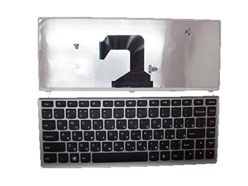 Laptop Keyboard for Lenovo U410 U410 Touch U410T Russian 25203680 V127920DS1 RU AELZ8700010 T3C1-RUS 25203740 9Z.N7GSQ.A0R NSK-BCDSQ AELZ8700110 25203620 MP-11K93RU-6862 AELZ8700210 with Silver Frame