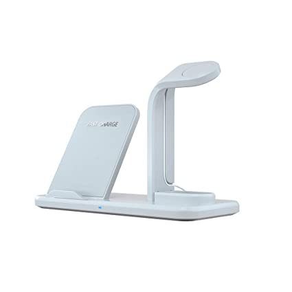 TianranRT - Cargador Inalámbrico Tianranrt Airpower de Carga Rápida Para Iwatch Para Iphone Para Airpods 4 En 1 (Blanco)