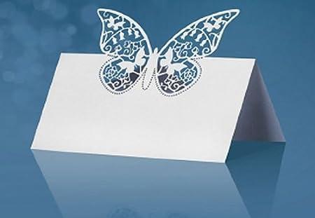 Like a Girl - wir lieben Hochzeiten® 25 Tischkarten, Platzkarten, Namenskärtchen zur Hochzeit Dunkelrot-Creme mit Ornament Partydeco
