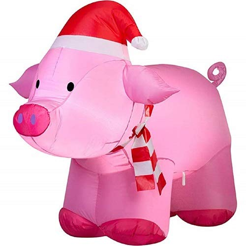 Light Up Outdoor Christmas Pig